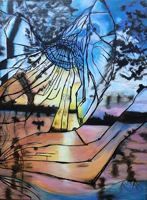Broken but Beautiful-Cracked Sunset, Diane Varano