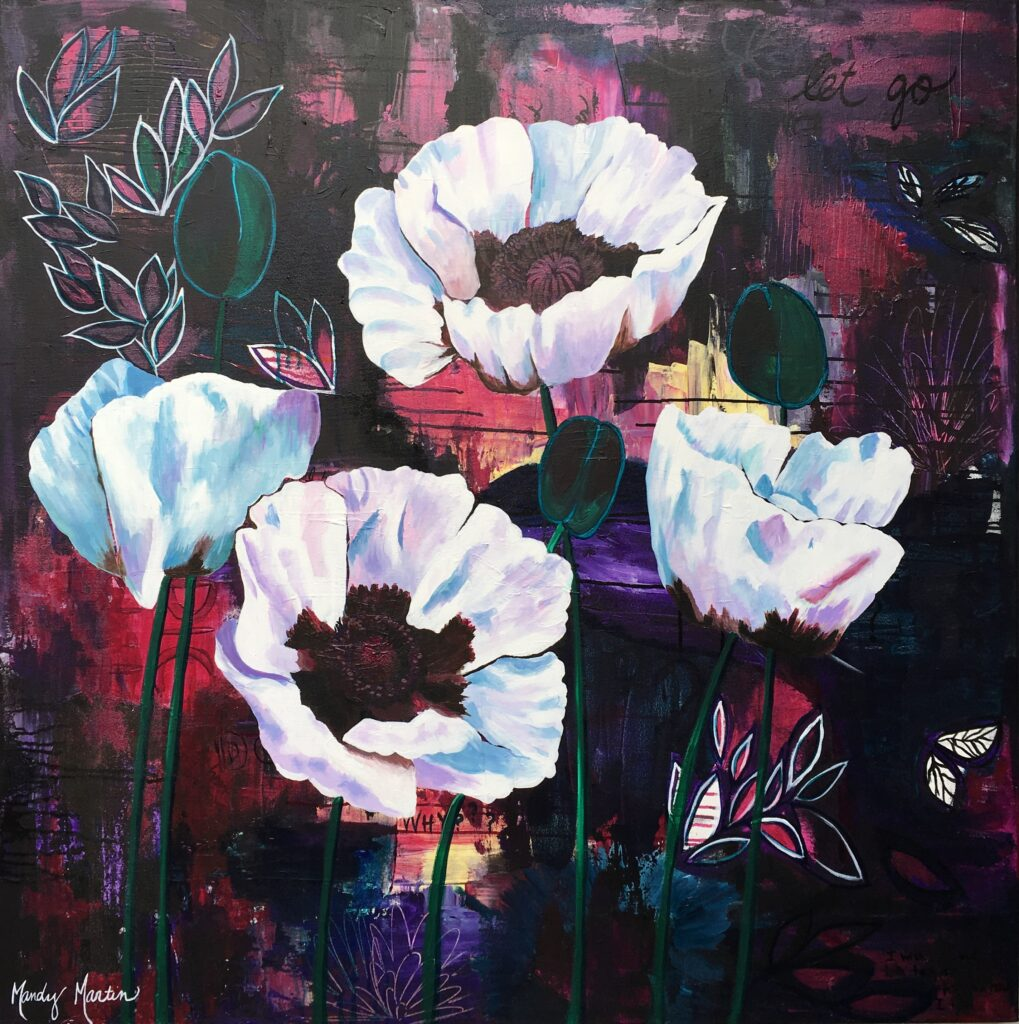 Floral painting by artist Mandy Martin