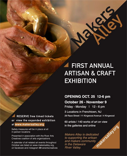 Makers Alley First Annual Artisan & Craft Exhibition: October 25-November 9