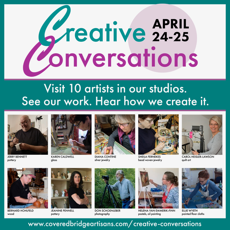 Creative Conversations – A Virtual Event | April 24 & 25, 10am-5pm